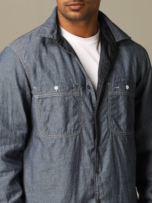 Рубашка Aspesi: Рубашка Мужское Aspesi темно-синий 4