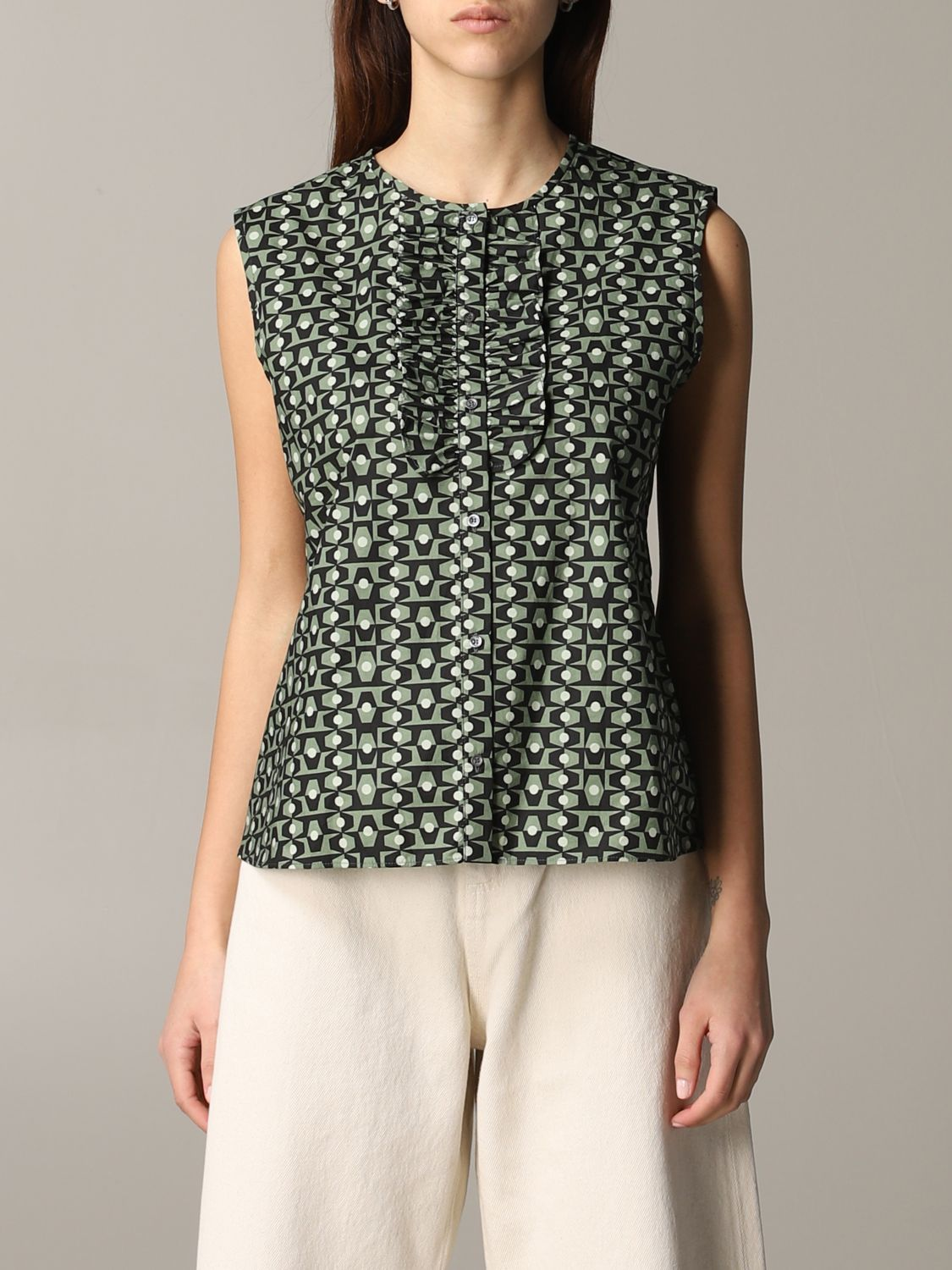Shirt Aspesi: Top women Aspesi green 1