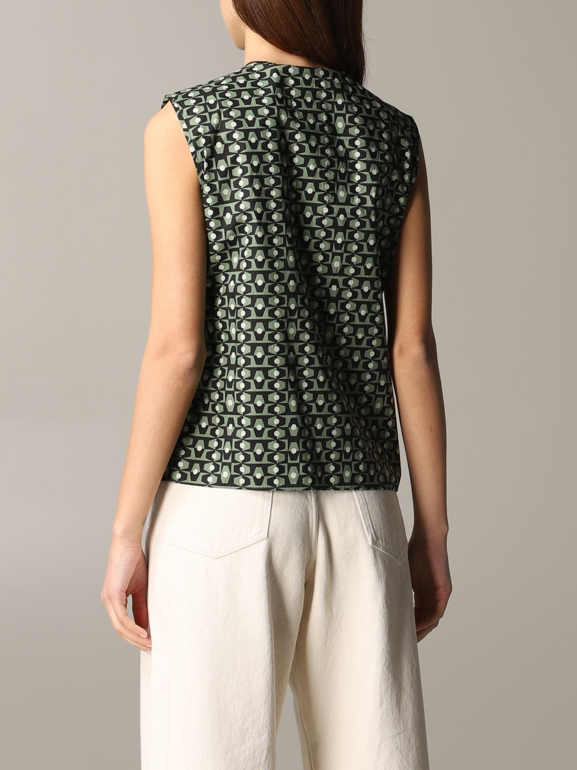 Shirt Aspesi: Top women Aspesi green 3