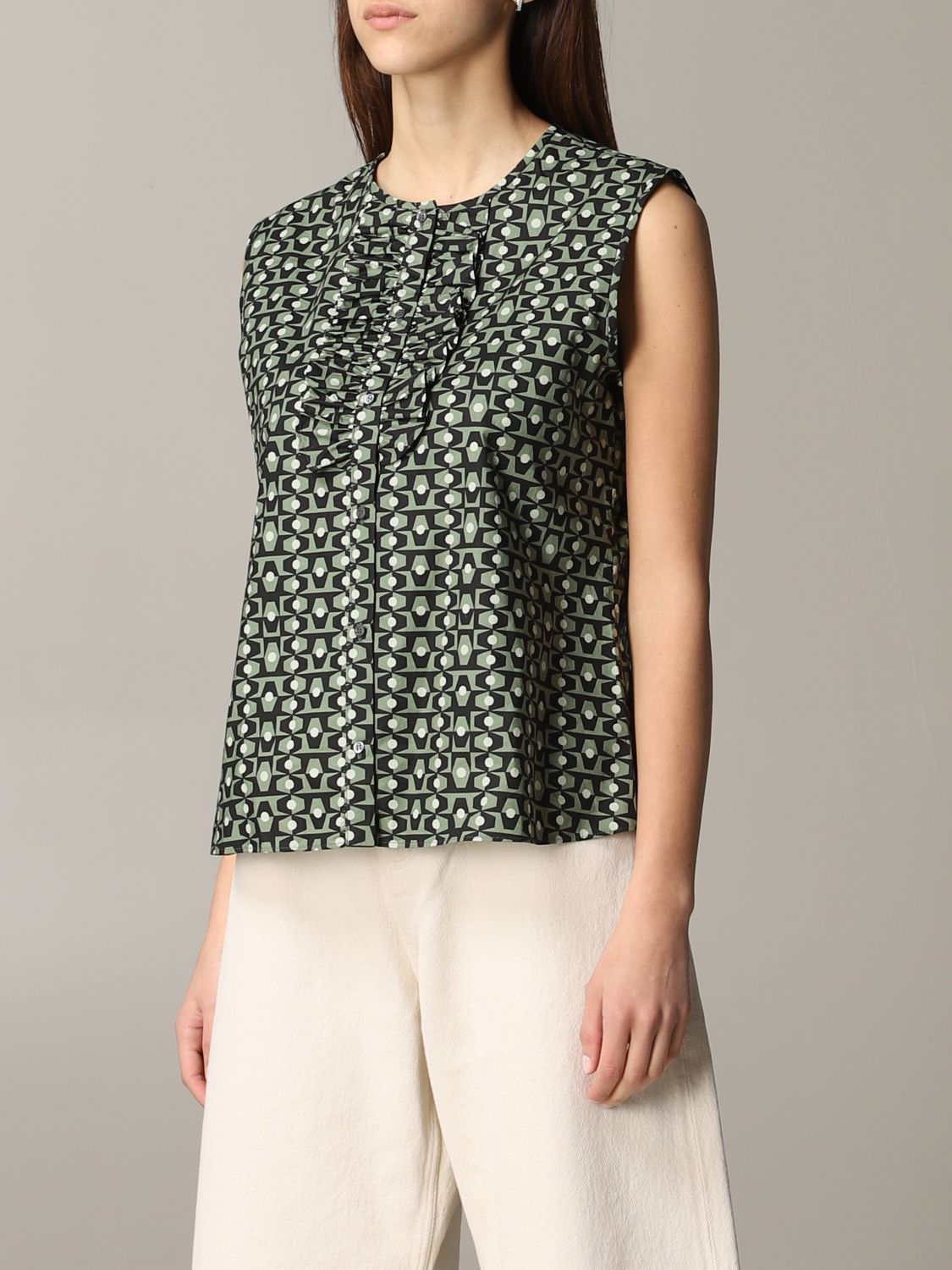 Shirt Aspesi: Top women Aspesi green 4