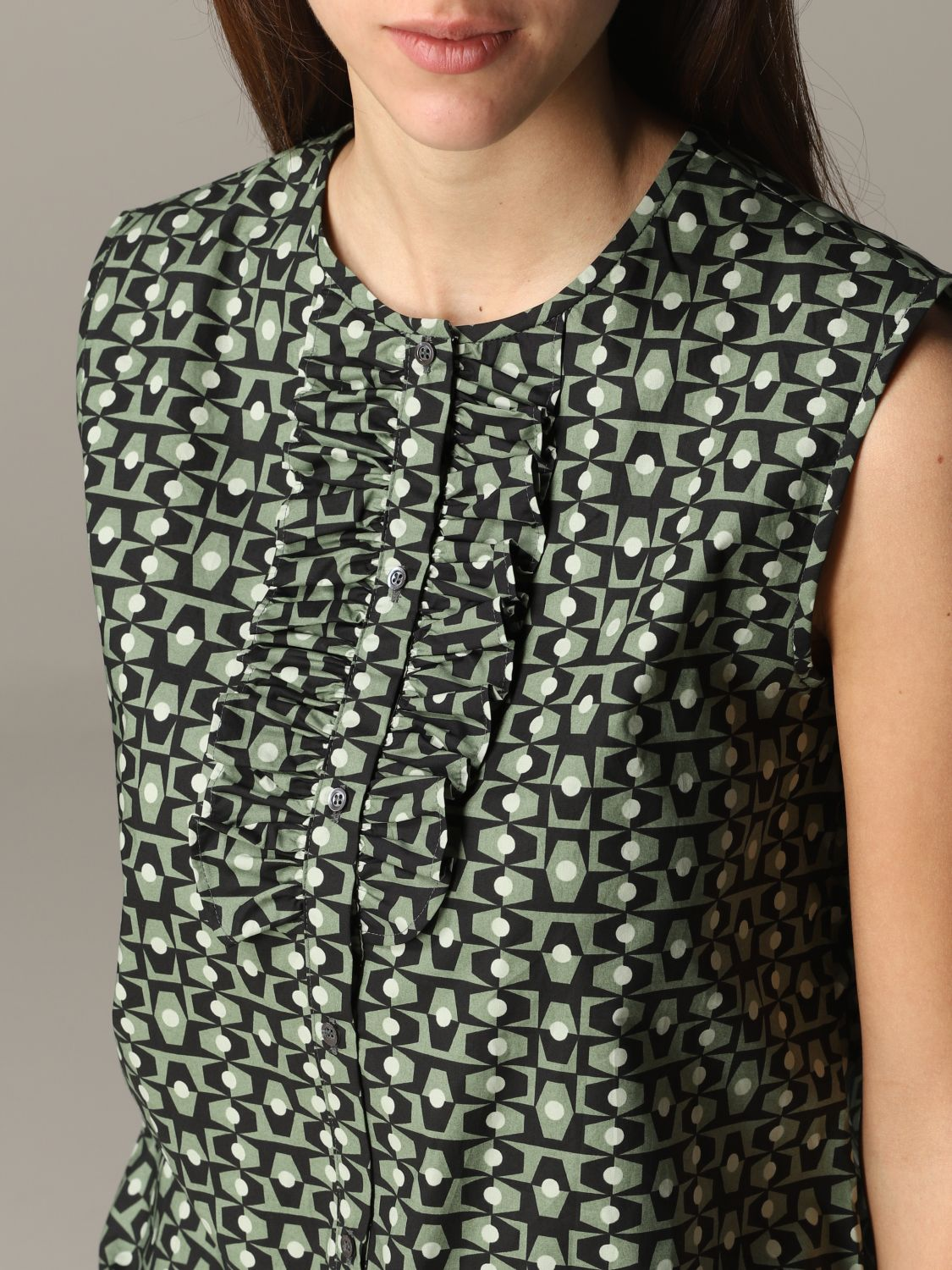 Shirt Aspesi: Top women Aspesi green 5