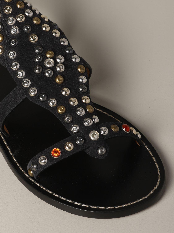 Sandales plates Isabel Marant: Sandales plates femme Isabel Marant noir 4