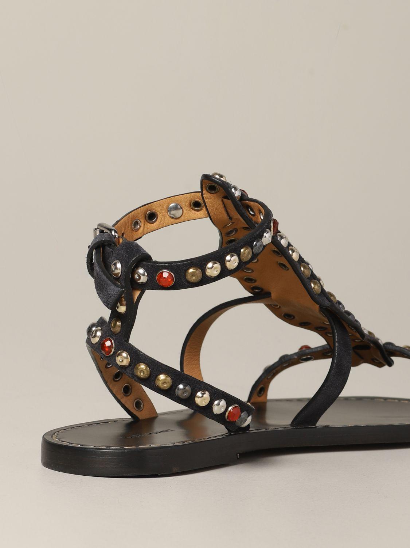 Sandales plates Isabel Marant: Sandales plates femme Isabel Marant noir 5