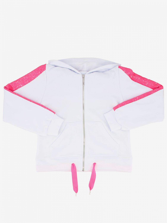 Pinko sweatshirt with hood and zip white 1