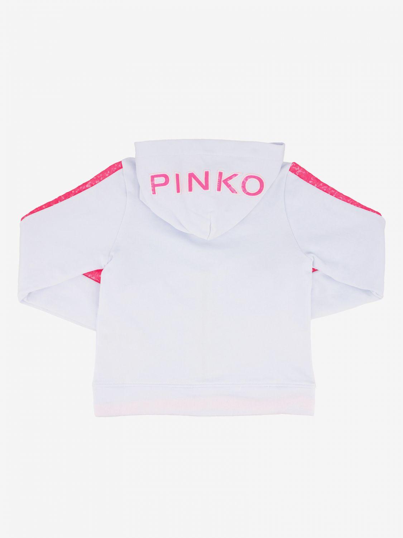 Pinko sweatshirt with hood and zip white 2