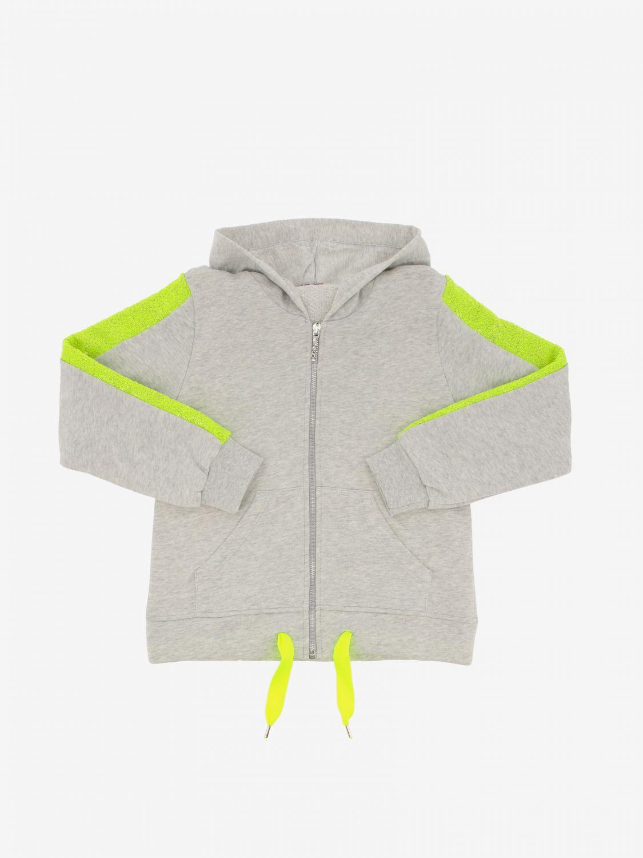 Pinko sweatshirt with hood and zip grey 1