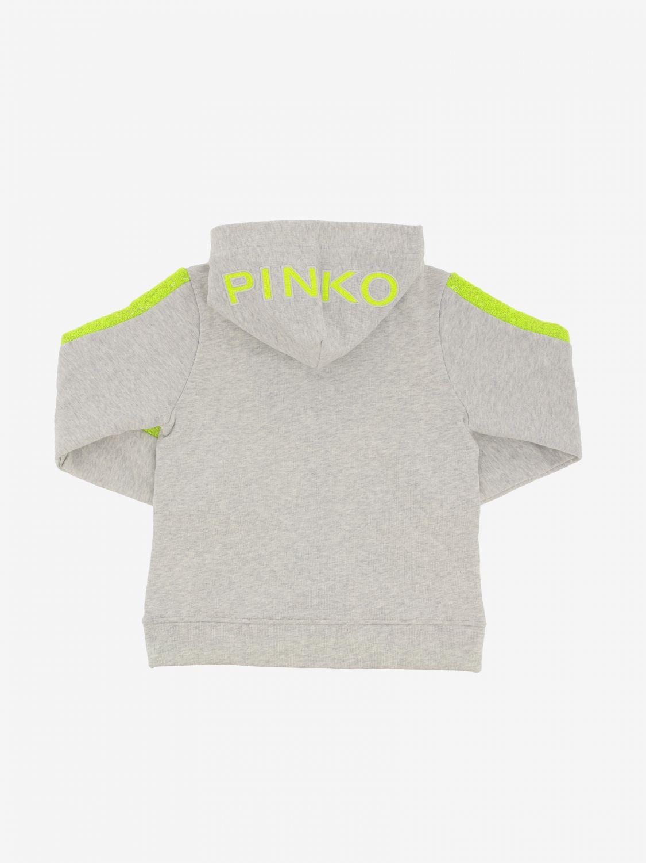 Pinko sweatshirt with hood and zip grey 2