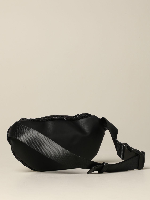 Pinko 拉链亮片装饰腰包 黑色 2