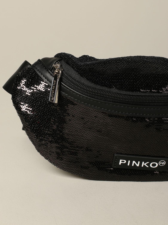 Pinko 拉链亮片装饰腰包 黑色 3