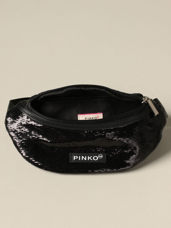 Pinko 拉链亮片装饰腰包 黑色 4