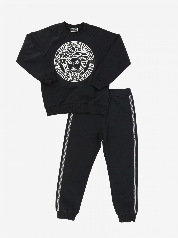 Ensemble sweat + combinaison Versace Young avec imprimé tête de méduse noir 1