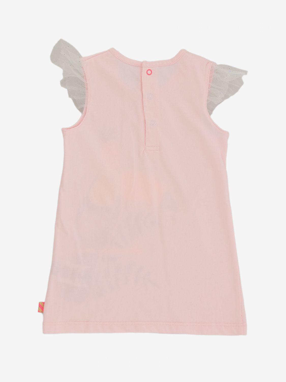 Abito Billieblush: Abito Billieblush con stampa e spalline in tulle rosa 2