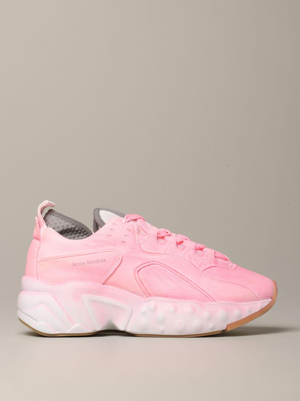 运动鞋 Acne Studios: Acne Studios 喷漆效果运动鞋 粉色 1