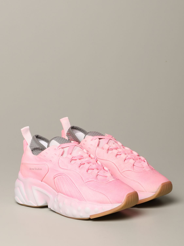 运动鞋 Acne Studios: Acne Studios 喷漆效果运动鞋 粉色 2