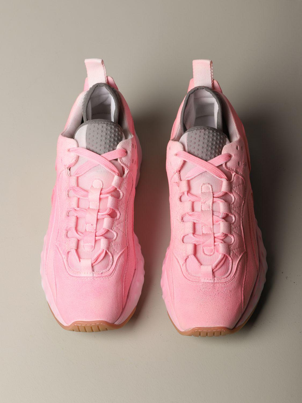 运动鞋 Acne Studios: Acne Studios 喷漆效果运动鞋 粉色 3