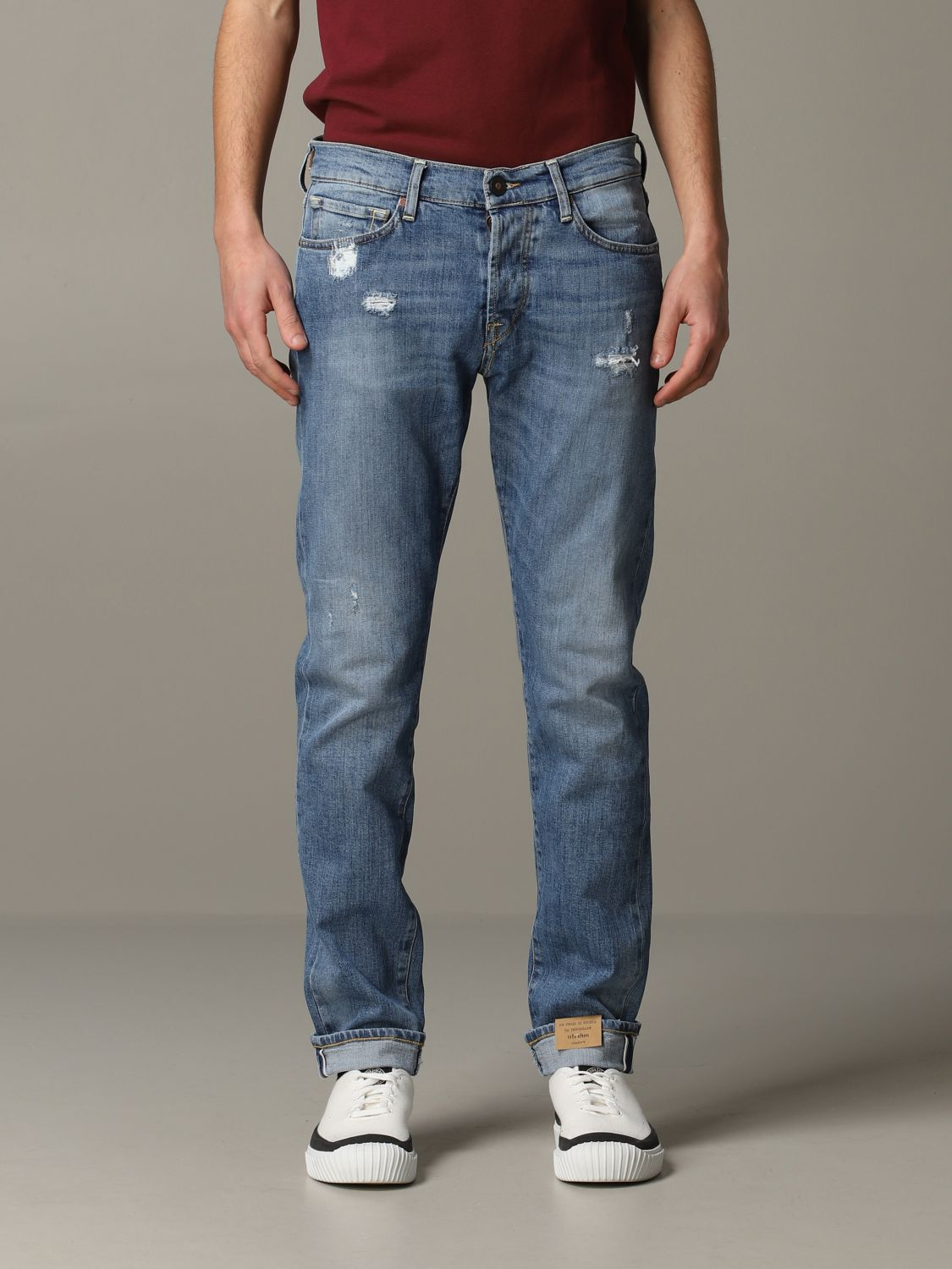 Jeans Tela Geneva in denim used stretch blue 1