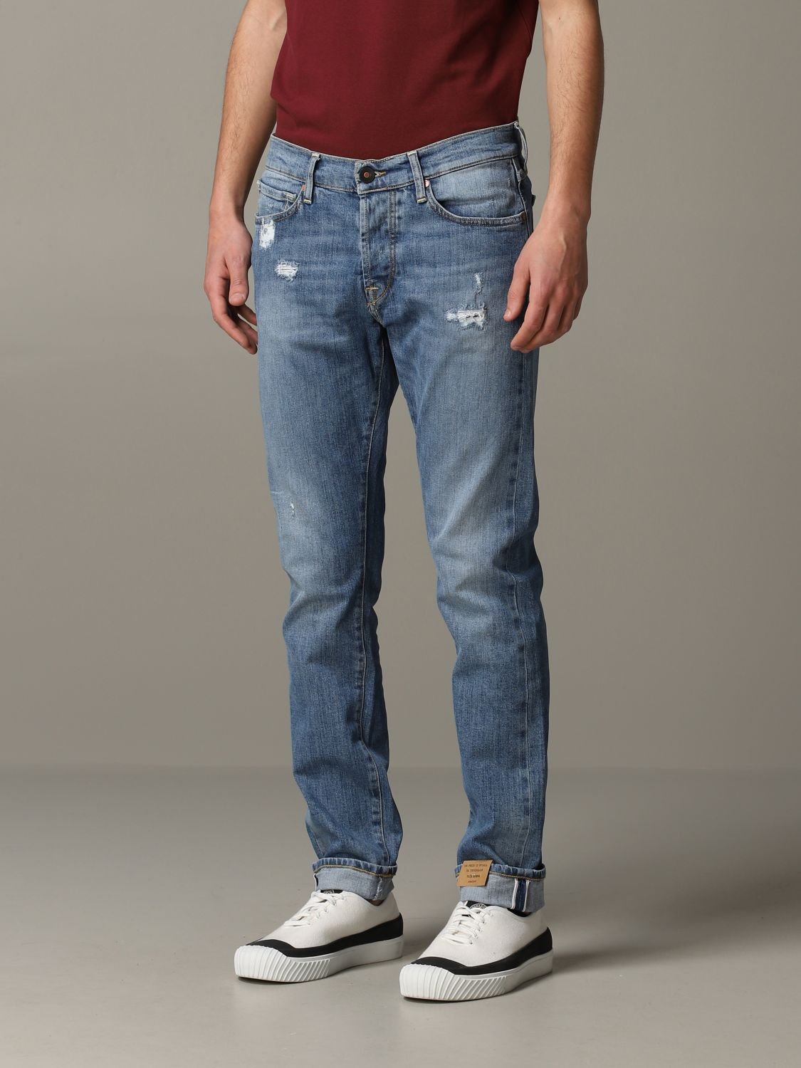 Jeans Tela Geneva in denim used stretch blue 4
