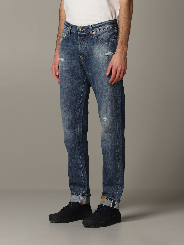 Jeans Tela Genova in denim stretch blue 4