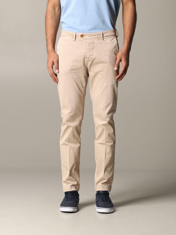Pantalone Tela Genova in tessuto stretch beige 1