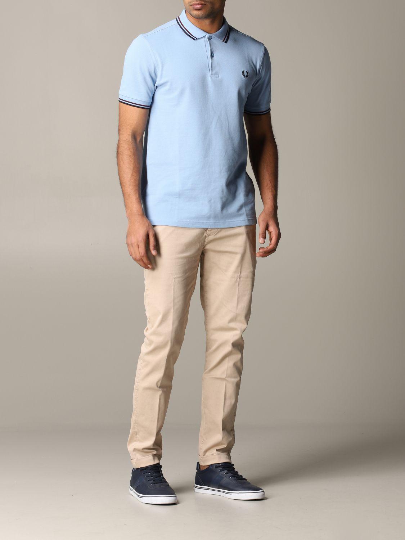 Pantalone Tela Genova in tessuto stretch beige 2