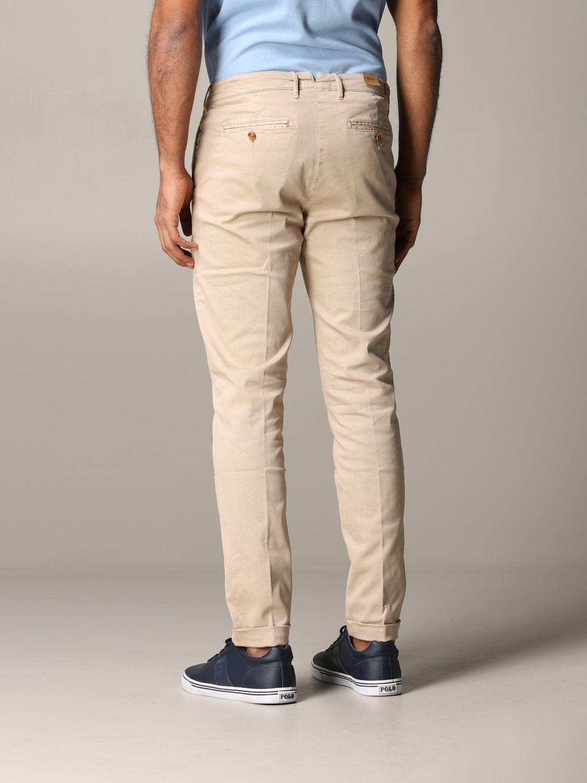 Pantalone Tela Genova in tessuto stretch beige 3