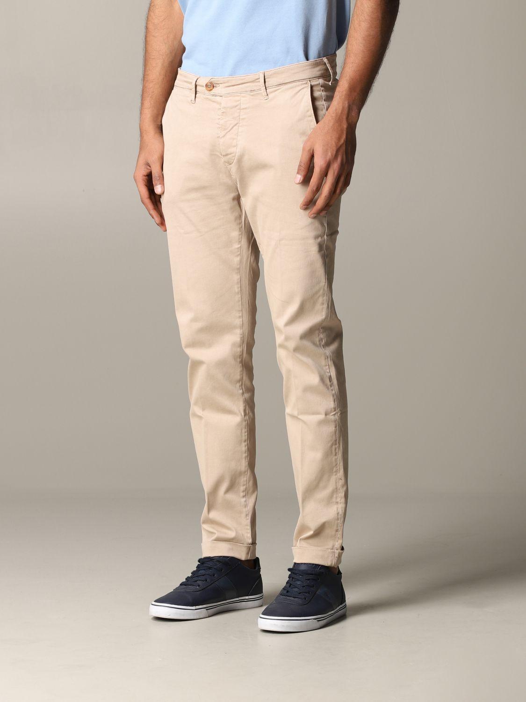 Pantalone Tela Genova in tessuto stretch beige 4