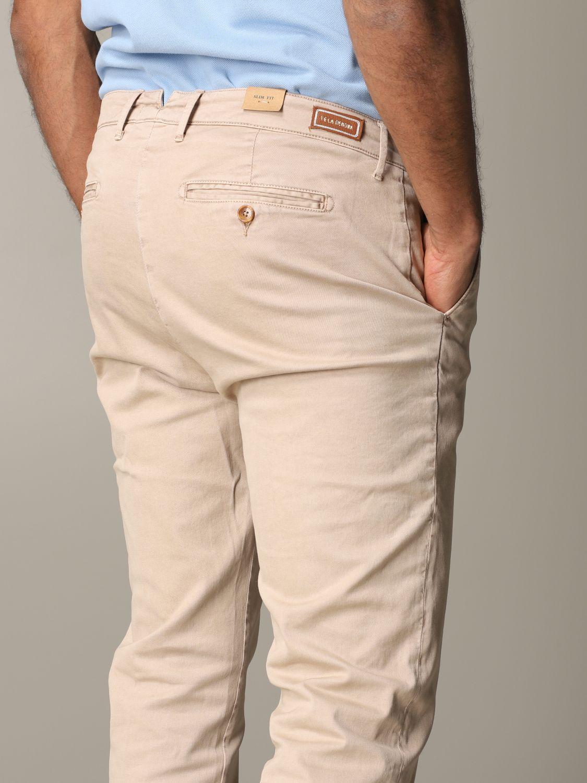 Pantalone Tela Genova in tessuto stretch beige 5