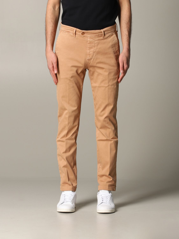 Pantalone Tela Genova in tessuto stretch bruciato 1