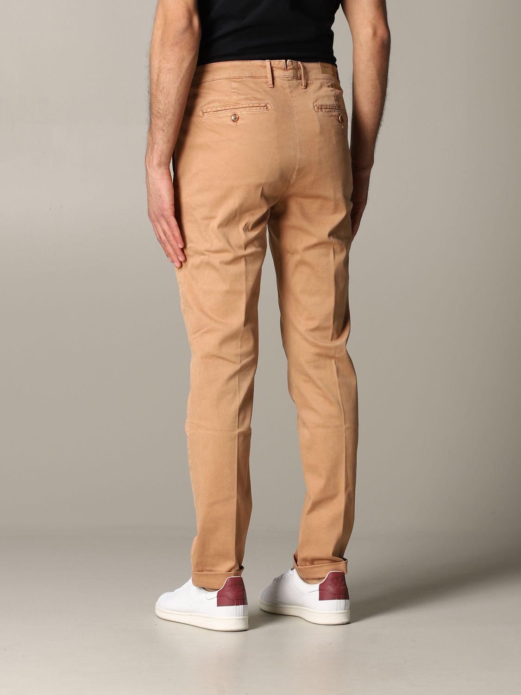 Pantalone Tela Genova in tessuto stretch bruciato 3