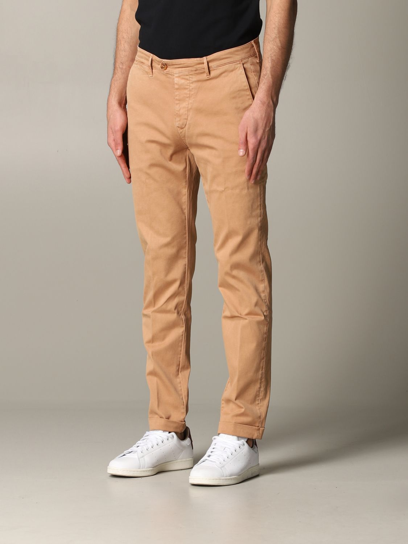 Pantalone Tela Genova in tessuto stretch bruciato 4