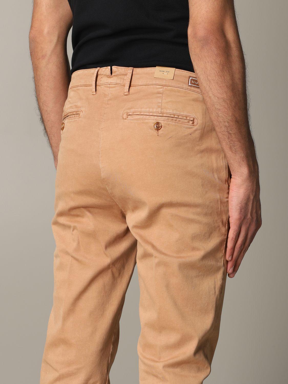 Pantalone Tela Genova in tessuto stretch bruciato 5