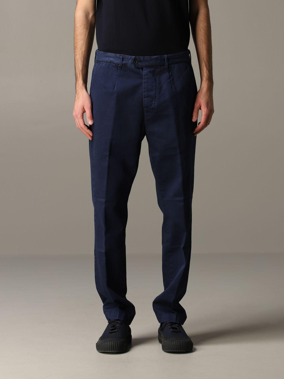 Pantalone Tela Genova in gabardina di cotone blue 1