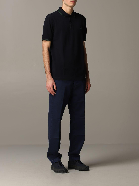 Pantalone Tela Genova in gabardina di cotone blue 2