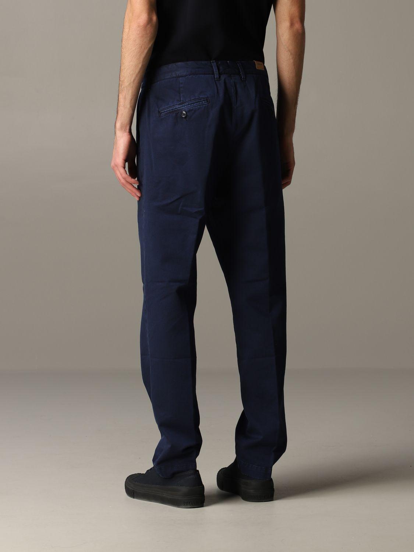 Pantalone Tela Genova in gabardina di cotone blue 3