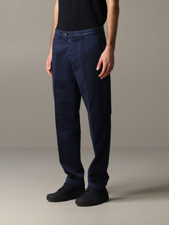 Pantalone Tela Genova in gabardina di cotone blue 4