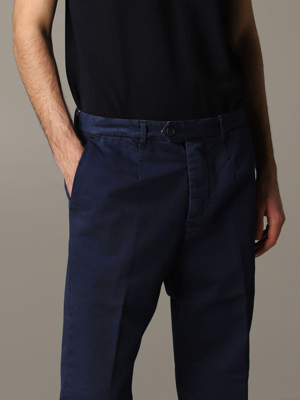Pantalone Tela Genova in gabardina di cotone blue 5