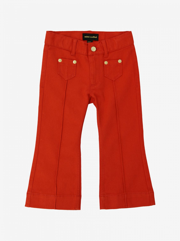 Mini Rodini 牛仔裤 红色 1