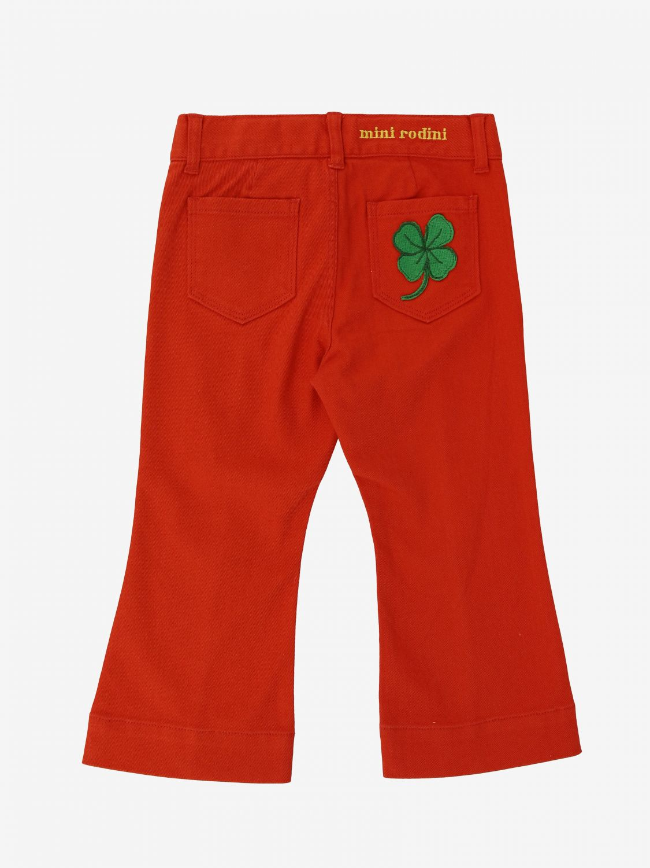 Mini Rodini 牛仔裤 红色 2