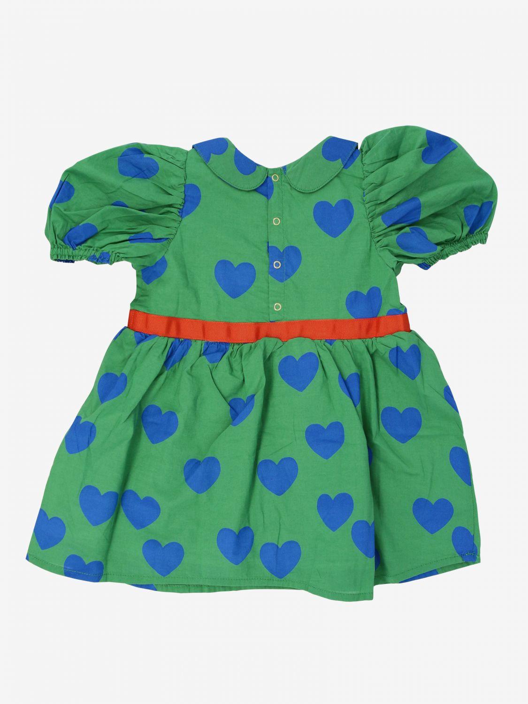 Abito Mini Rodini con cuori all over e farfalla verde 2