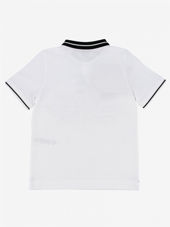 Polo Burberry: Polo Burberry a maniche corte con scritte bianco 2