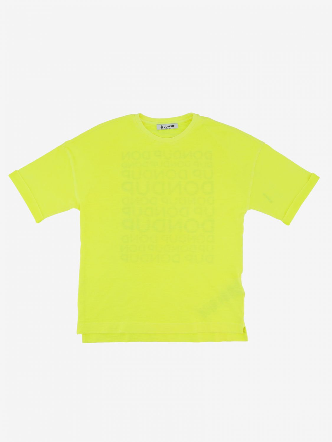 T-shirt Dondup: T-shirt Dondup con stampa logo posteriore giallo 1