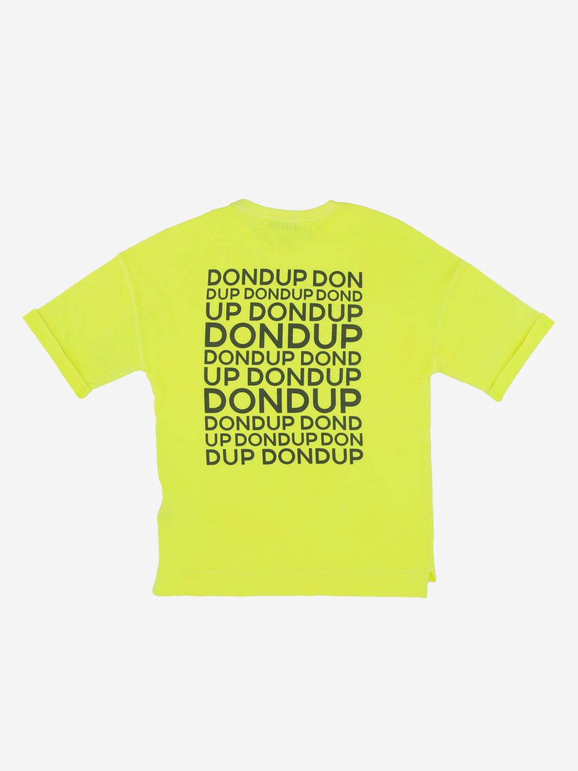 T-shirt Dondup: T-shirt Dondup con stampa logo posteriore giallo 2
