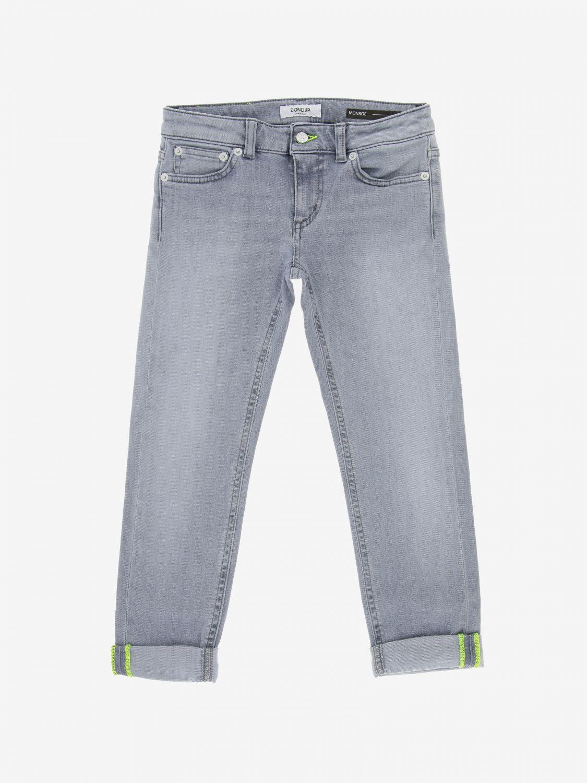 Jeans Dondup a vita bassa grigio 1
