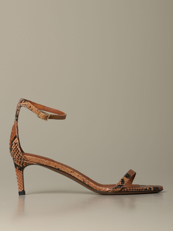 Heeled sandals women L'autre Chose beige 1