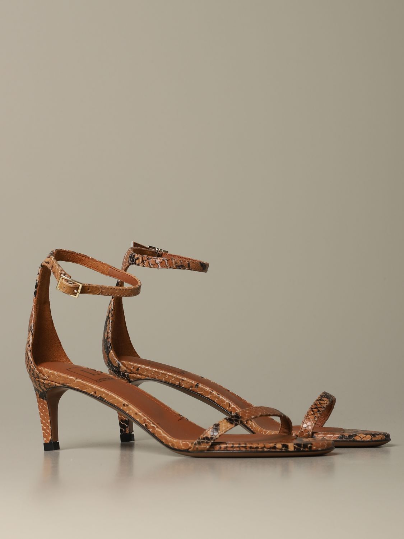 Heeled sandals women L'autre Chose beige 2