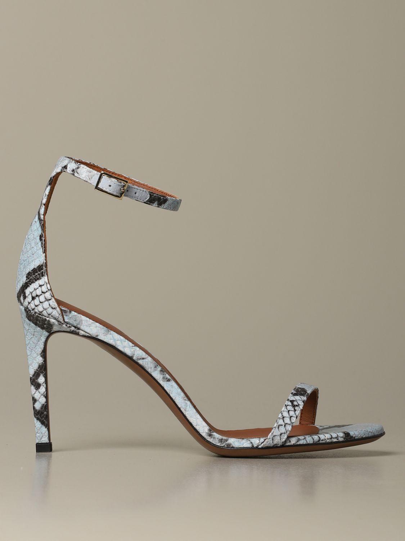 Heeled sandals women L'autre Chose gnawed blue 1