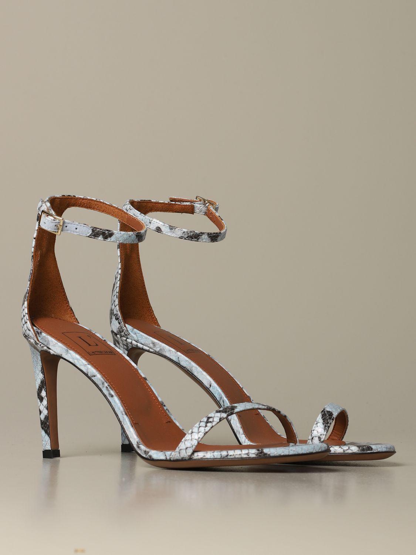 Heeled sandals women L'autre Chose gnawed blue 2
