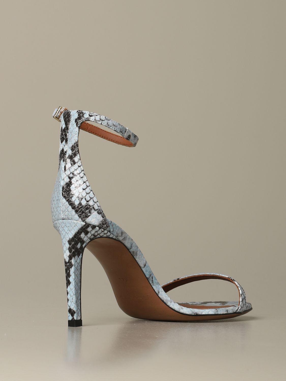 Heeled sandals women L'autre Chose gnawed blue 3
