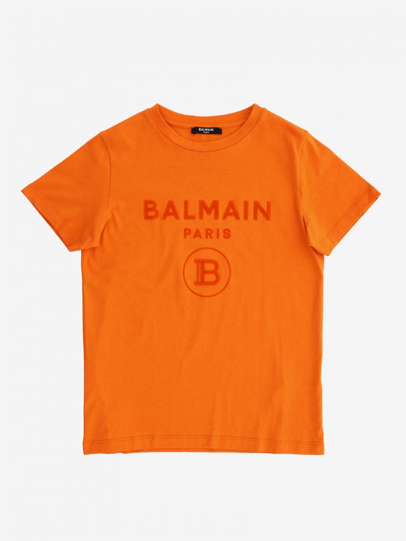 T恤 Balmain: Balmain logo T恤 蓝色 1