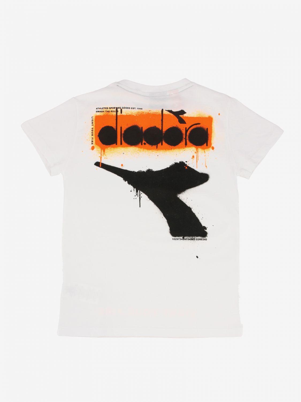 T-shirt Diadora: T-shirt Diadora a maniche corte con logo bianco 2